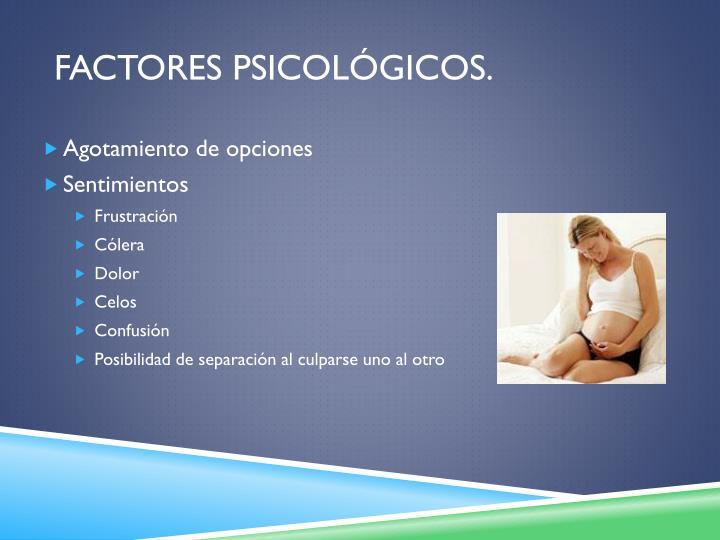 Factores Psicológicos.