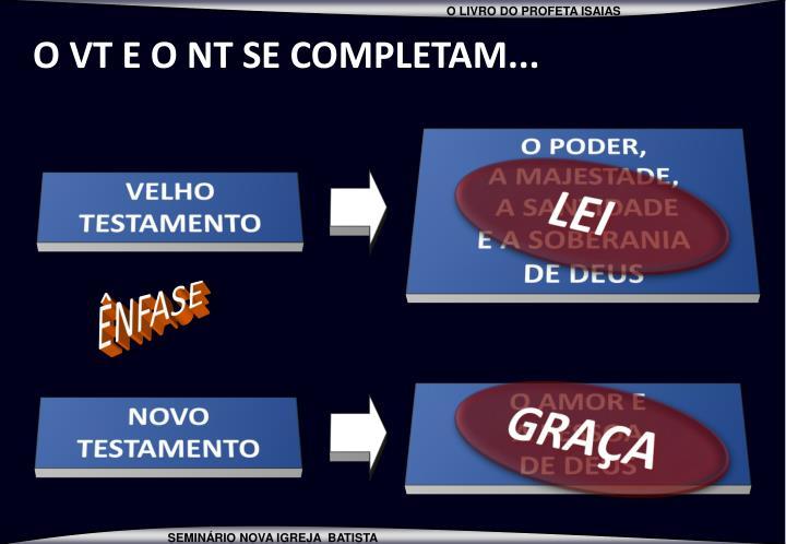 O VT E O NT SE COMPLETAM...