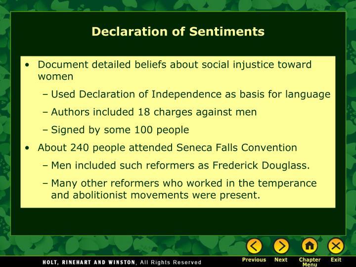 Document detailed beliefs about social injustice toward women