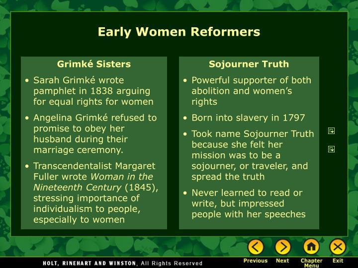 Early Women Reformers
