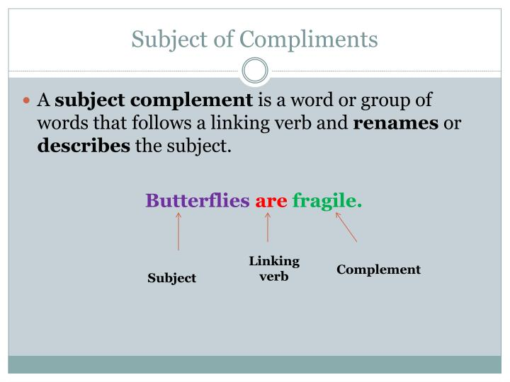 Subject of Compliments