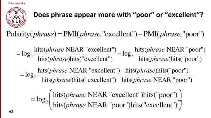 """Does phrase appear more with """"poor"""" or """"excellent""""?"""