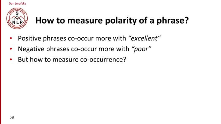 How to measure polarity of a phrase?