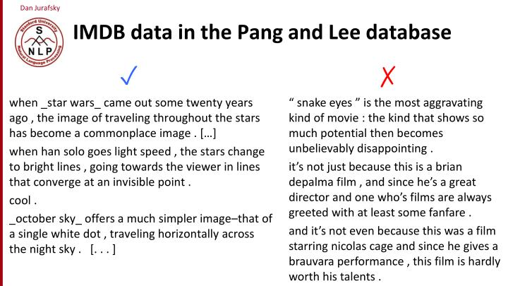 IMDB data in the Pang and Lee database