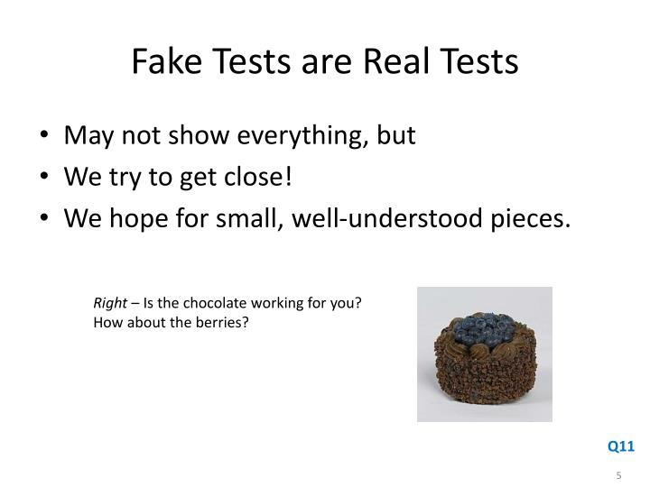 Fake Tests are Real Tests