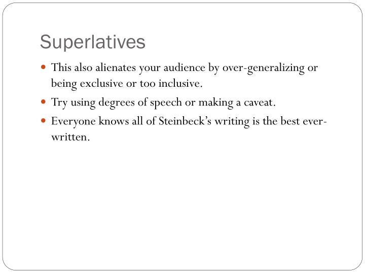 Superlatives