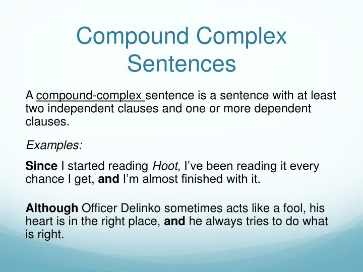 Compound Complex Sentences