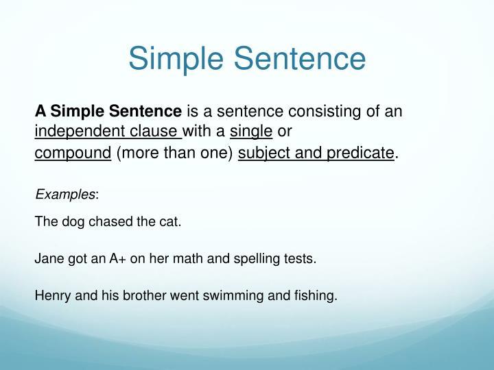 Simple Sentence