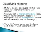 classifying mixtures