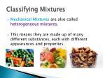 classifying mixtures1