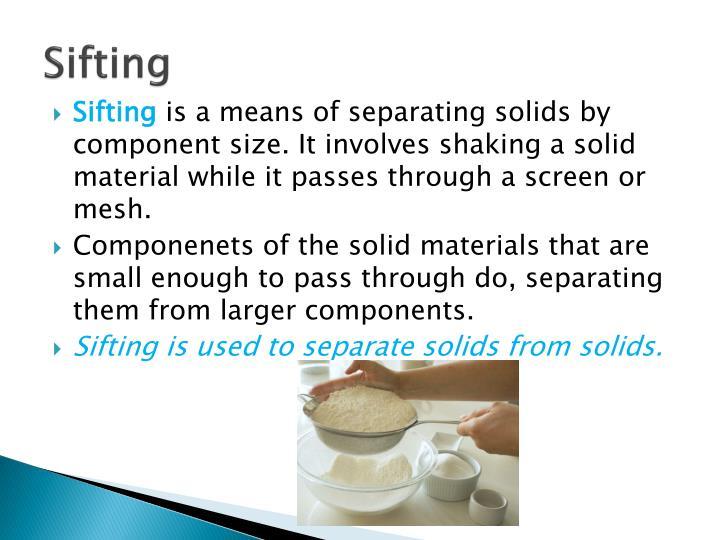 Sifting