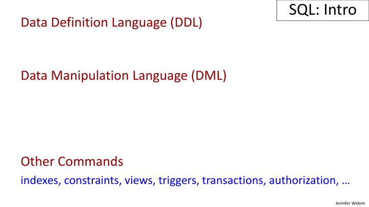 SQL: Intro