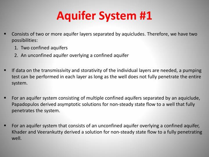 Aquifer System #1