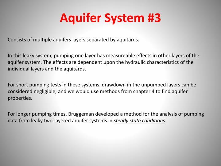 Aquifer System #3