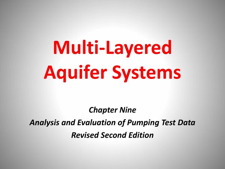 multi layered a quifer s ystems