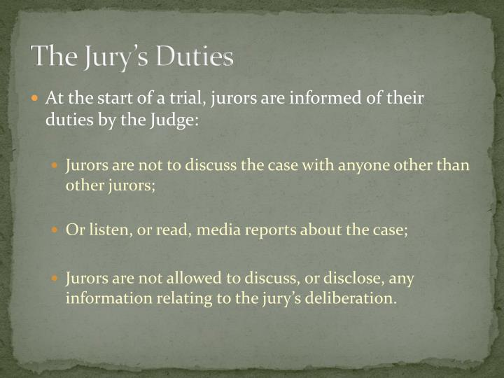 The jury s duties2