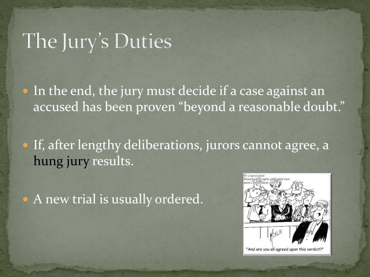 The Jury's Duties