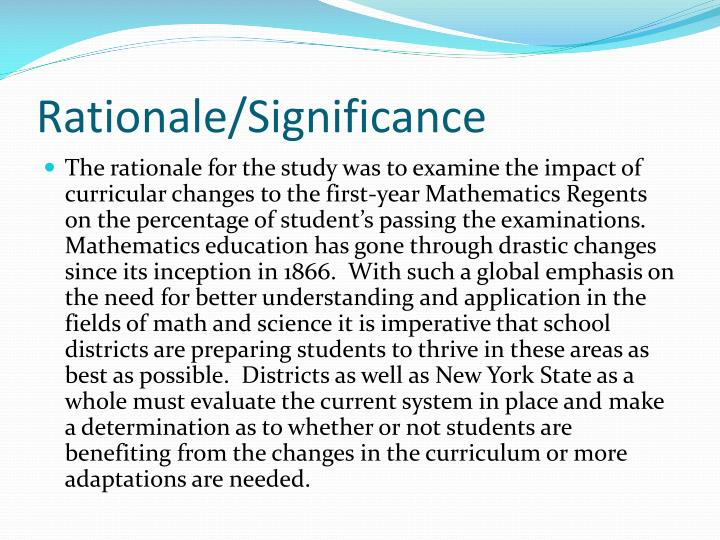 Rationale/Significance