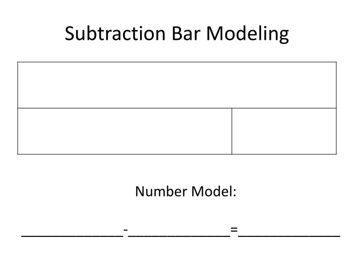 subtraction bar modeling