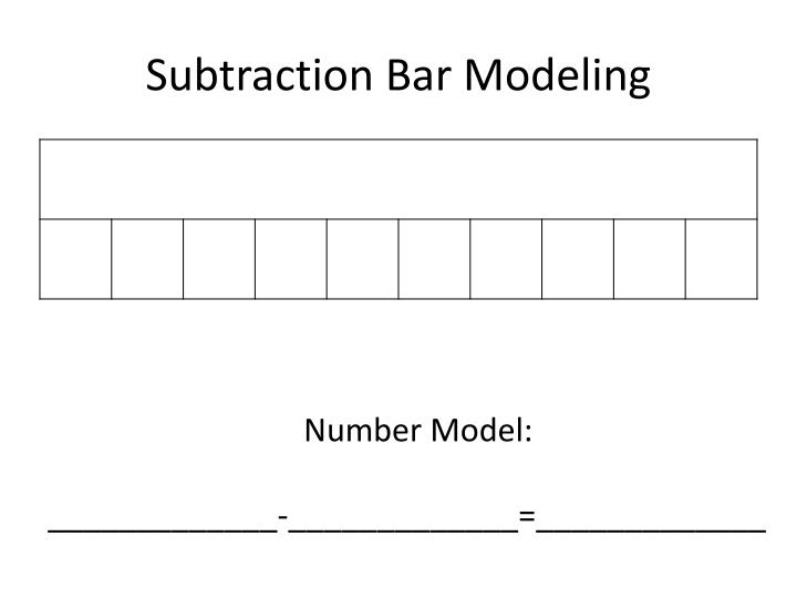 Subtraction Bar Modeling