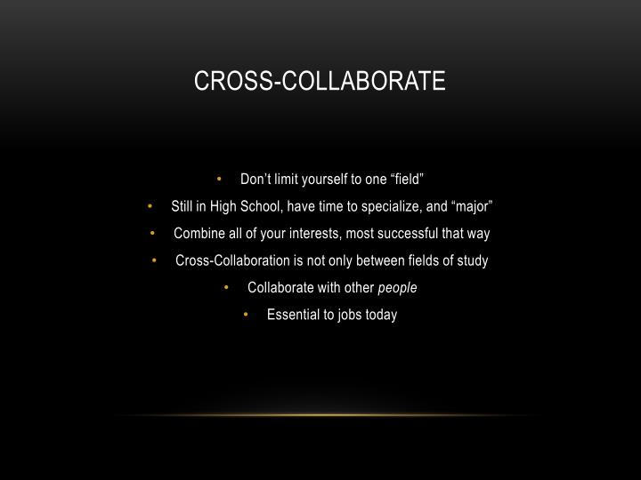 Cross-Collaborate