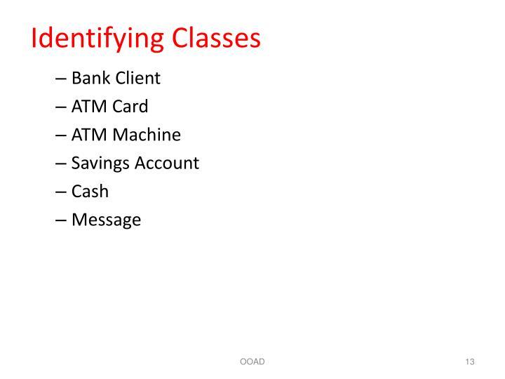 Identifying Classes