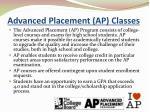 advanced placement ap classes