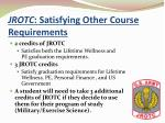 jrotc satisfying other course requirements