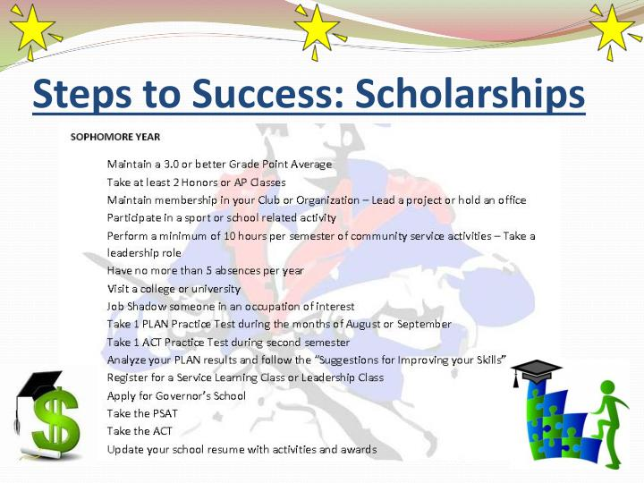 Steps to Success: Scholarships