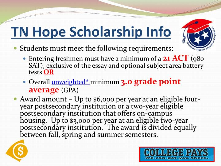 TN Hope Scholarship Info
