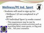 wellness pe ind sport