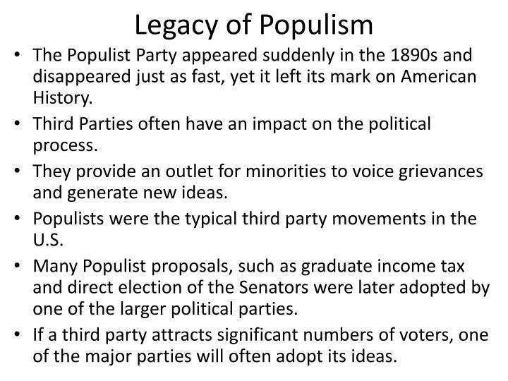 Legacy of Populism