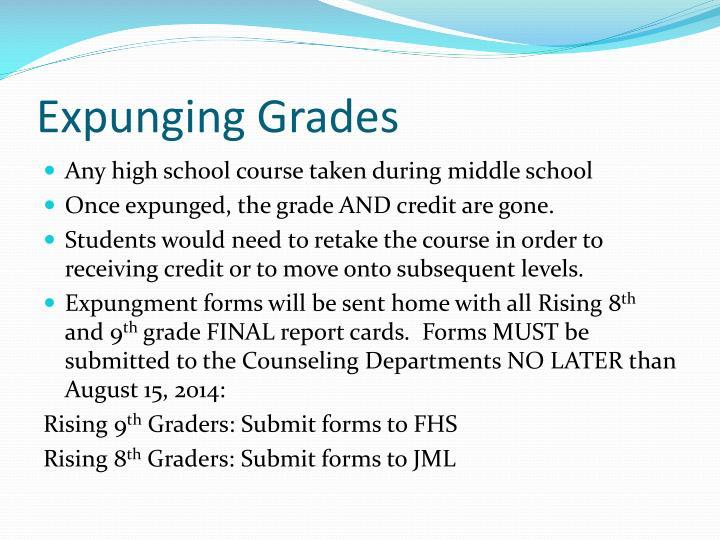 Expunging Grades