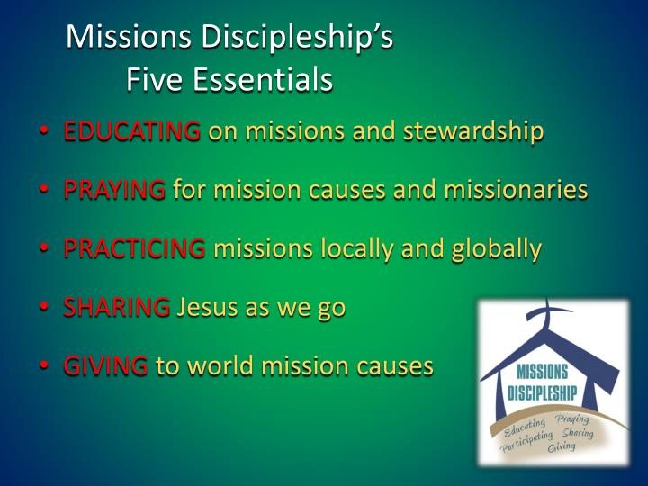 Missions Discipleship's