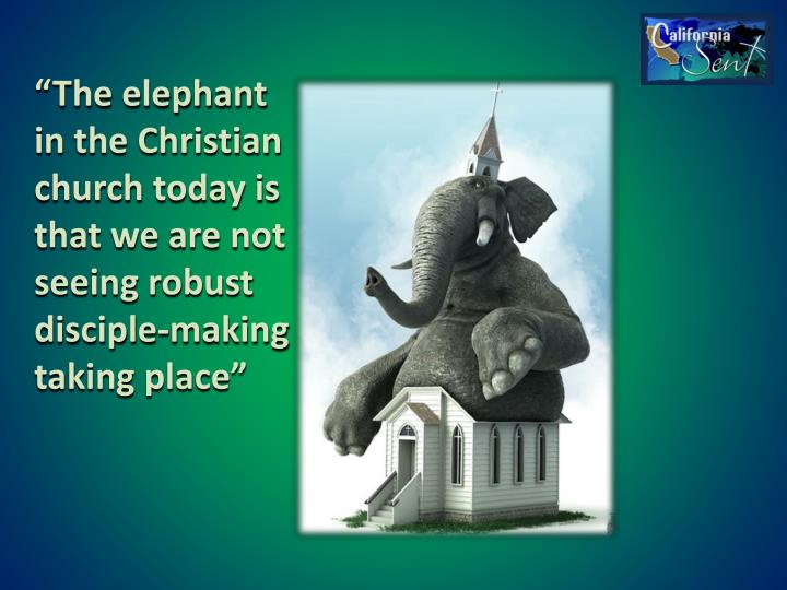 """The elephant in the Christian church today is that we are not seeing robust disciple-making taking place"""