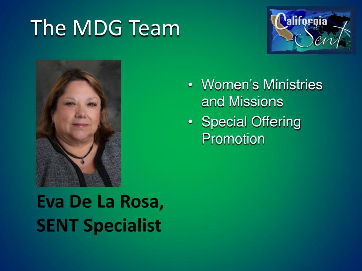 The MDG Team