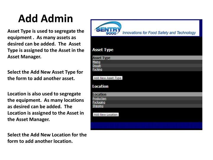 Add Admin