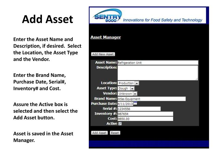 Add Asset