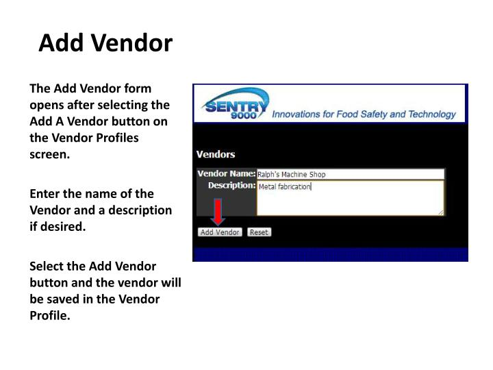 Add Vendor