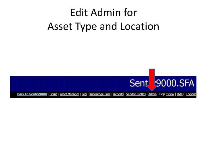 Edit Admin for