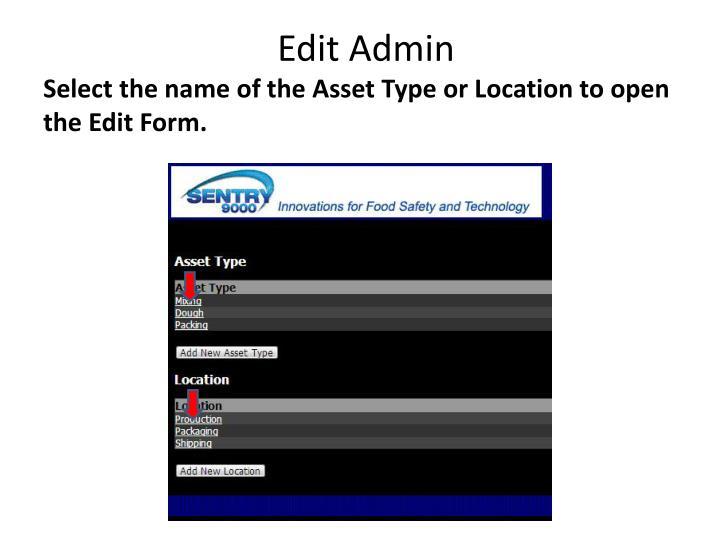 Edit Admin