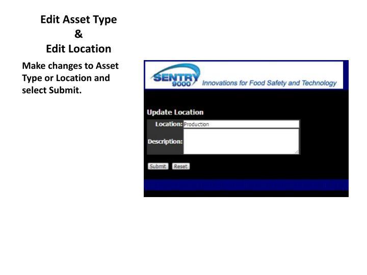 Edit Asset Type