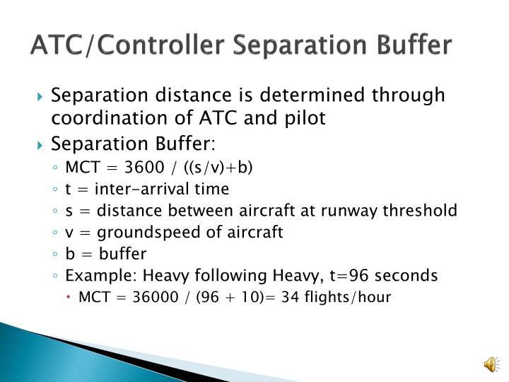 ATC/Controller Separation Buffer