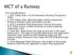 mct of a runway