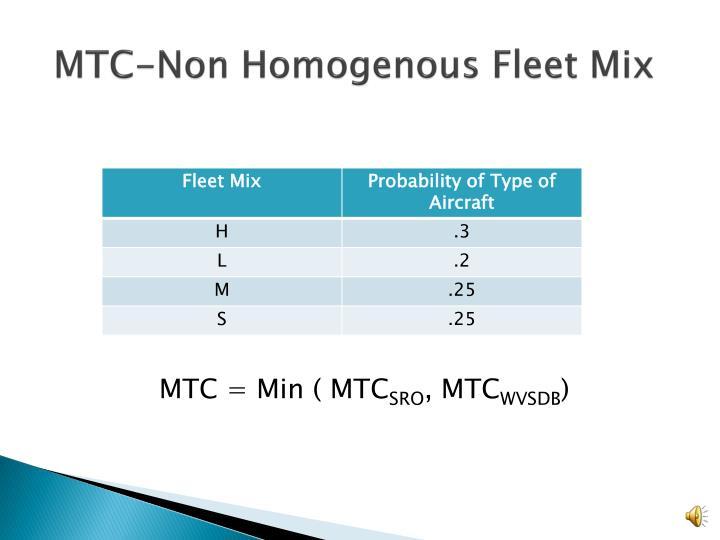 MTC-Non Homogenous Fleet Mix