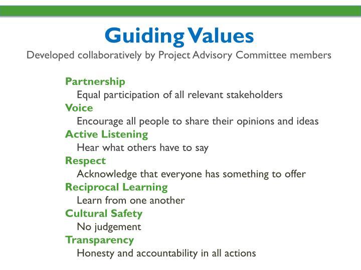 Guiding Values