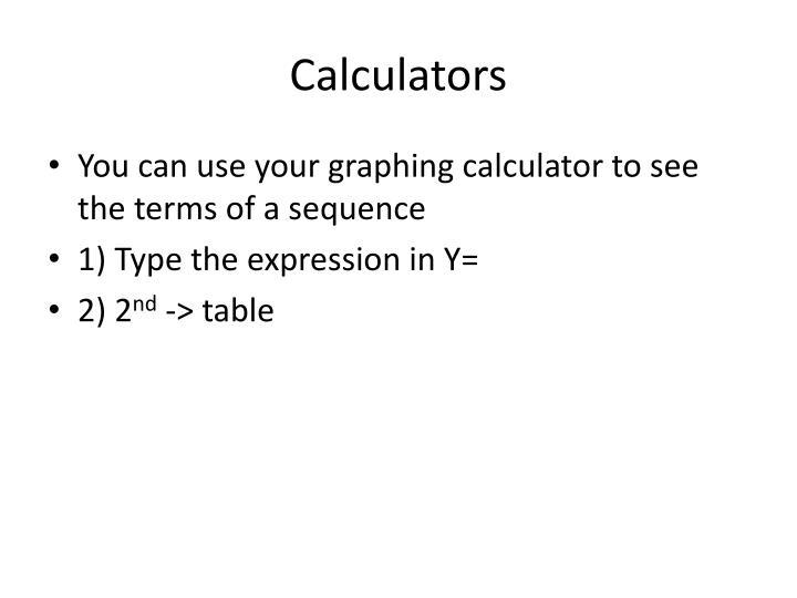 Calculators