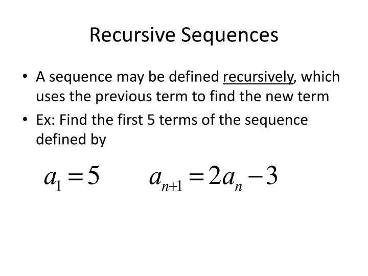 Recursive Sequences