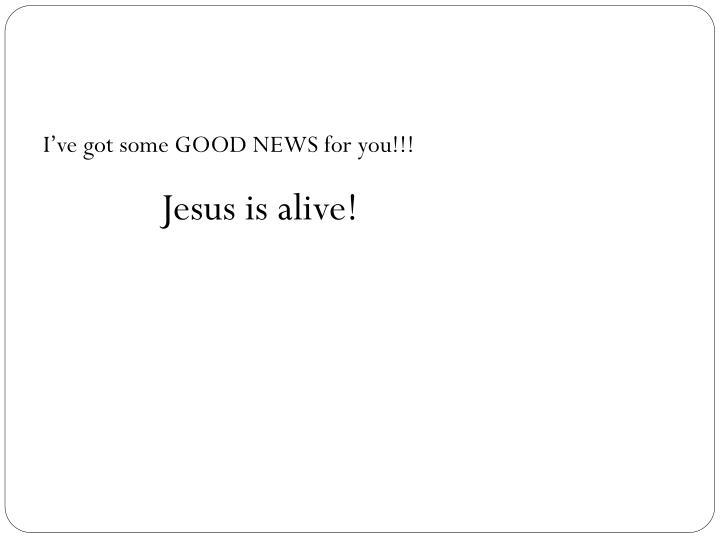 I've got some GOOD NEWS for you!!!
