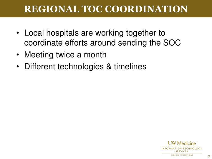 Regional TOC Coordination